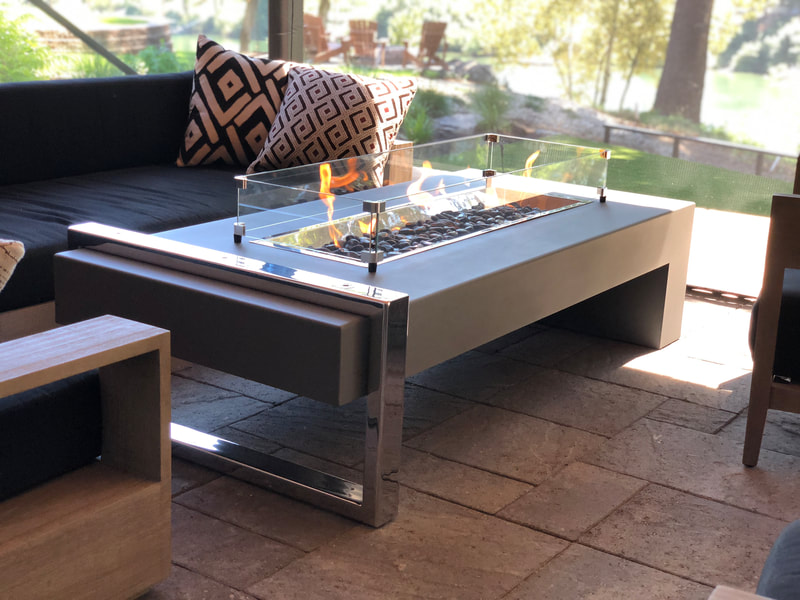 Custom Modern Fire Table